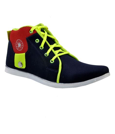 versoba navy yellow canvas shoe shoes price in india