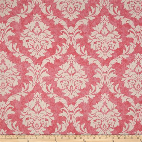 pink damask upholstery fabric object moved