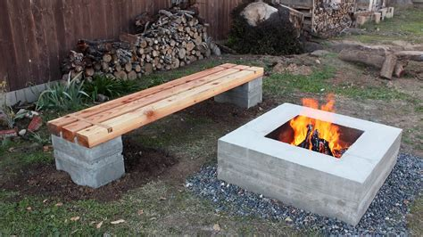 concrete bbq bench how to make outdoor concrete wood bench concrete fire