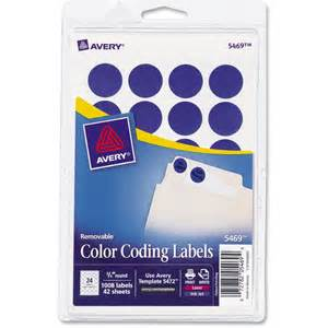 color coding labels avery color coding label