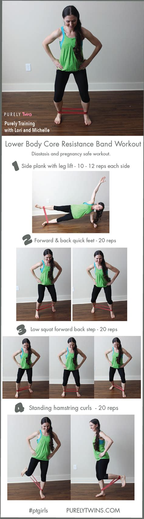 resistance band workout 2 diastasis and pregnancy workout