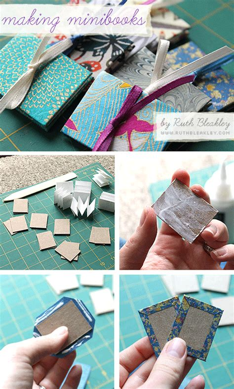 Handmade Book Tutorial - mini accordian book photo tutorial poppytalk