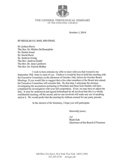 Invitation Letter For The Board Meeting Board Meeting Invitation Letter