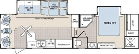 grand junction 5th wheel floor plans 2007 dutchmen grand junction 29drl floorplan