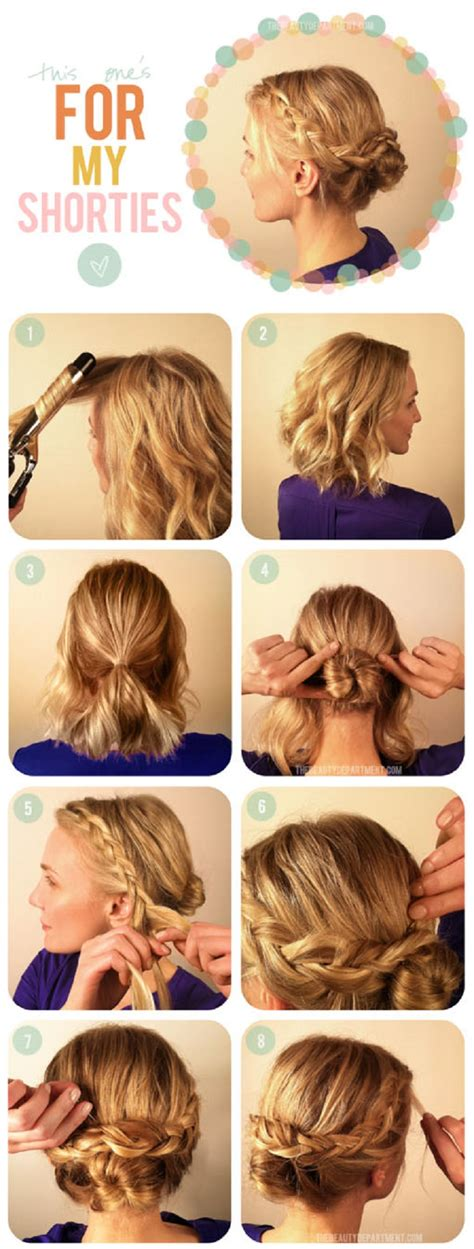how to put the worlds greatest hair buns with braids top 10 greatest tutorials for short hair top inspired