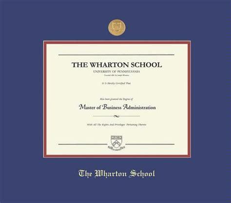 Wharton Mba Diploma by Custom Diploma Frames Certificate Frames Framing