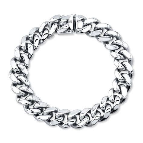 14k white gold solid chain link bracelet solid