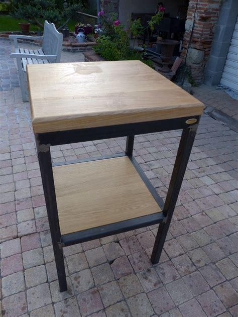Fabriquer Une Desserte fabrication table dappoint style industriel bois et mtal
