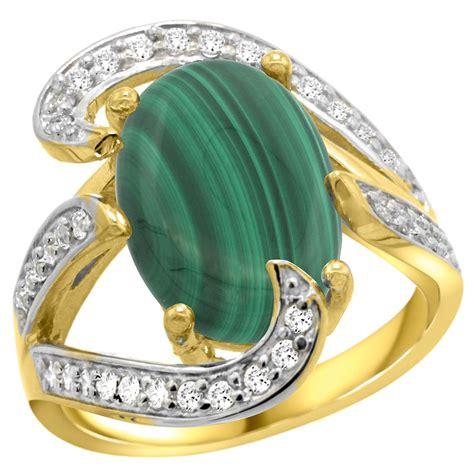 7 74 ctw malachite engagement ring 14k