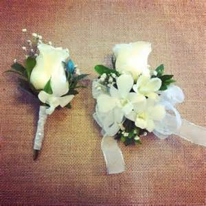 corsage and boutonniere for homecoming matching corsage and boutonnieres for prom les fleurs par