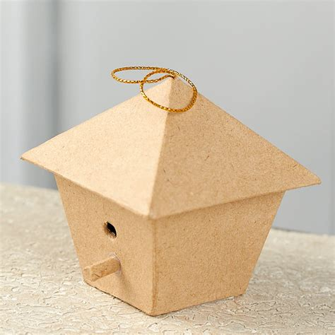 Craft Items With Paper - paper mache birdhouse ornament paper mache basic craft