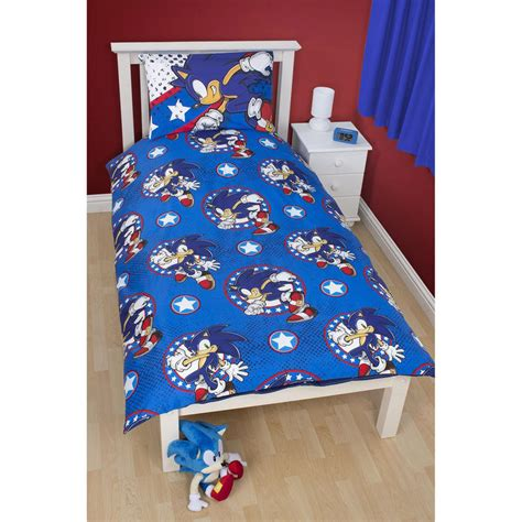 sonic bedding childrens sonic the hedgehog single duvet set