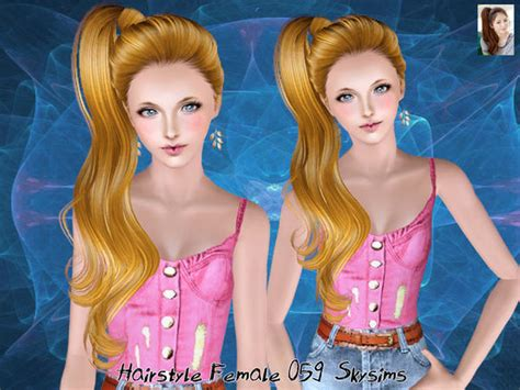 small ponytail hairstyle 228 by skysims sims 3 hairs the sims 3 naturally ponytail hairstyle 059 by skysims