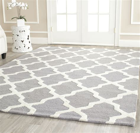 silver wool rug safavieh cambridge silver ivory wool area rug cam121d