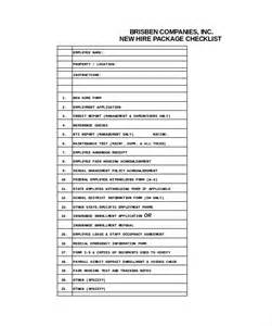 New Employee Checklist Template by New Hire Checklist Template 12 Free Word Excel Pdf