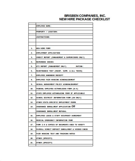 new employee checklist template new hire checklist templates 16 free word excel pdf
