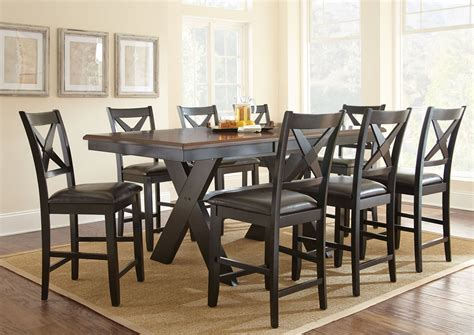 counter height rectangular table sets violante extendable rectangular counter height dining room