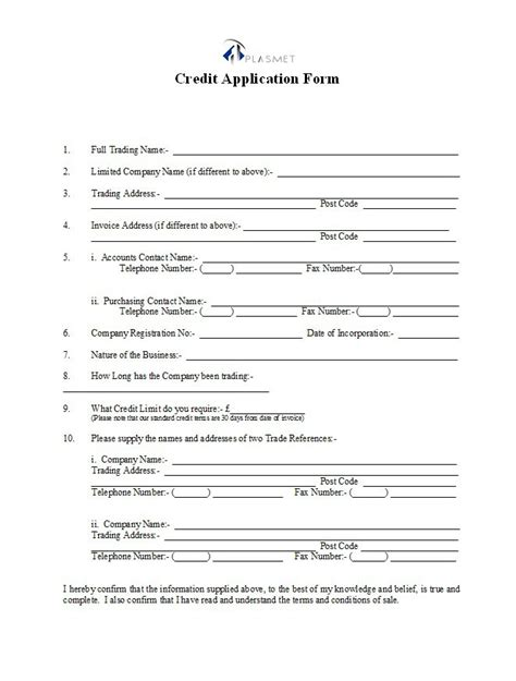 dealer application template 40 free credit application form templates sles