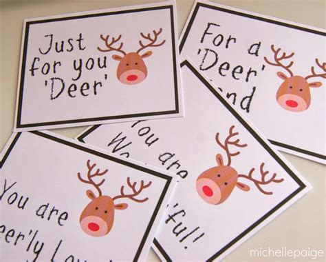printable reindeer gift tags michelle paige blogs printable reindeer gift tags