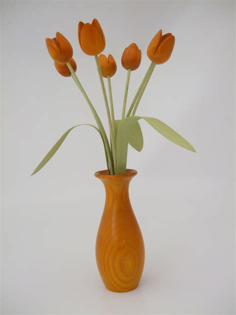 Flower Vase by Classically Styled Vase Of Flowers In Stained Ash By