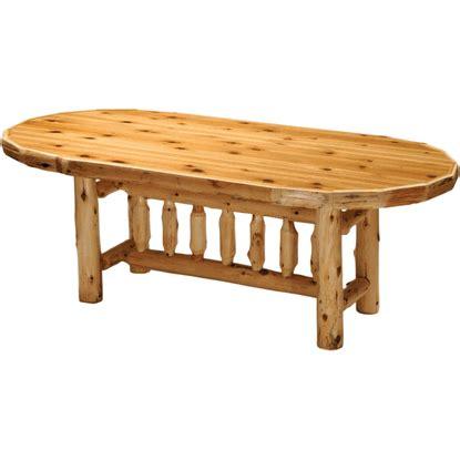cedar dining room table fireside lodge cedar log dining table oval