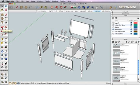 sketchup layout detail view sketchup and southern furniture book popular woodworking