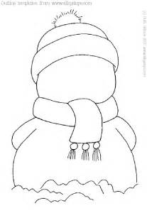 Snowman Outline Simple by Snowman Outline Picture Template