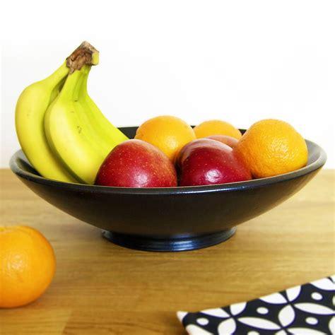Bowl Of Fruits by Black Ceramic Fruit Bowl By Kartimarket