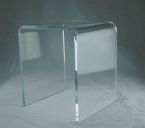lucite bench 3 4 quot clear acrylic lucite durable shower bench ebay