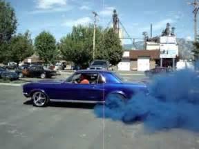 Car Tires That Smoke Blue Classic Mustang Blue Burnout Smoke