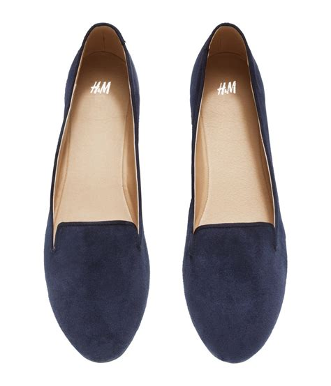 hm shoes h m loafers in blue lyst