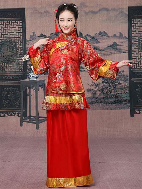 chinesische karneval kostuem frauen traditionelle hochzeit