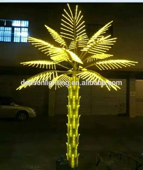 lighted palm tree 2016 promotion china made led artificial coconut tree outdoor led palm tree light decor
