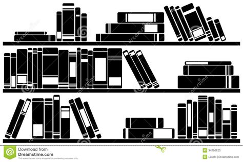 White Office Bookcase Books Stock Photo Image 34756620