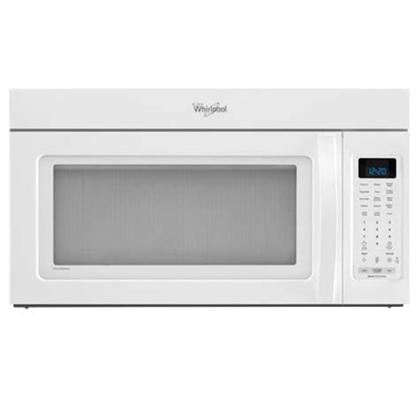 microwave and fan combination whirlpool wmh53520aw 2 0 cuft over the range microwave