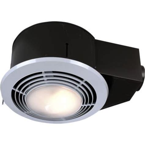 bathroom light heater and exhaust fan 100 cfm ceiling exhaust fan with light and heater qt9093wh