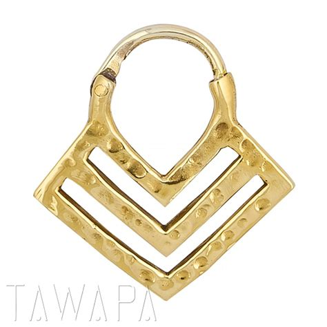 gold plated chevron septum ring small diameter