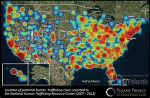 human trafficking map united states child trafficking and sexual exploitation in the united states