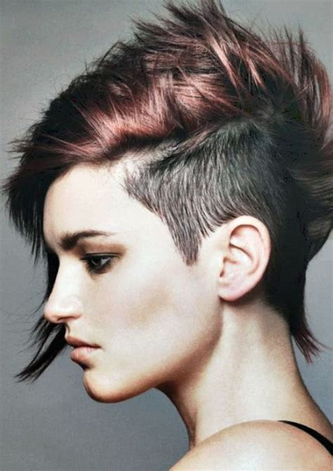 punk hairstyles bangs 1000 ideas about mohawk hairstyles for women on pinterest