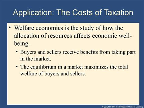 application the costs of taxation ppt video online download application the costs of taxation презентация онлайн