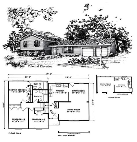 free home plans trilevel house plans