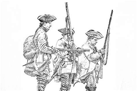 sketch drawing of civil war coloring pages