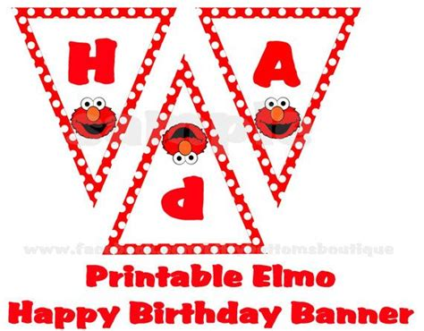 Printable Elmo Birthday Banner | southern girl nothing in the whole wide world like a