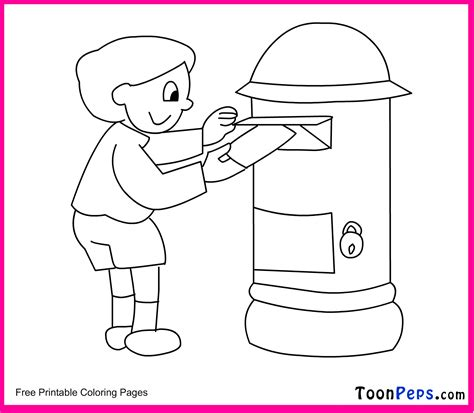 coloring pages of letter box letter box drawing