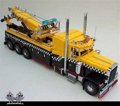 lego truck amazing lego trucks lego peterbilt tow truck probably