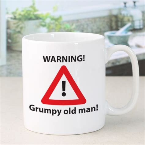christmas present for grumpy old man personalised grumpy mug the gift experience