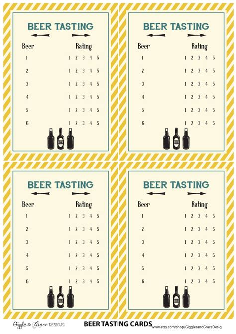 free beer tasting party printables from giggles amp grace
