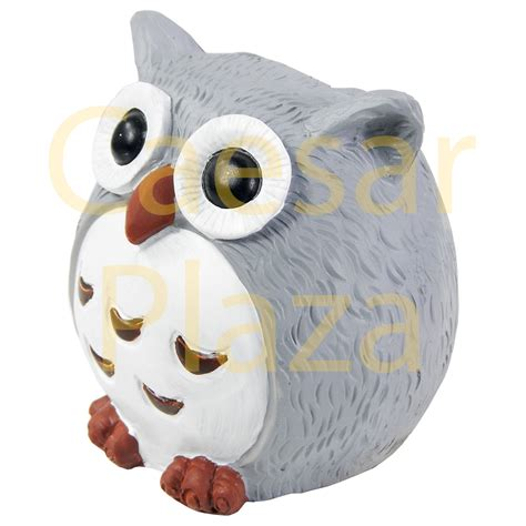 owl patio lights solar outdoor owl light garden decoration led post cap