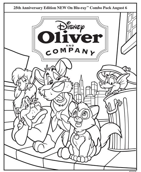 oliver and company coloring pages az coloring pages