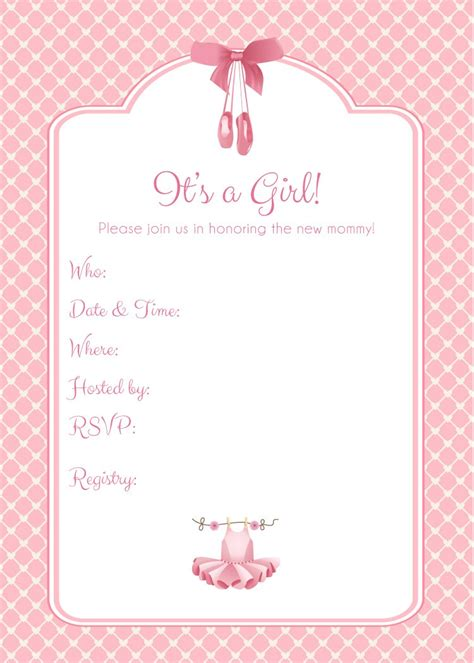 Baby Shower Printable Templates